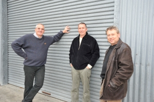 Winemakers - Peter Bristow, Russell Walsh and Brent Laidlow.