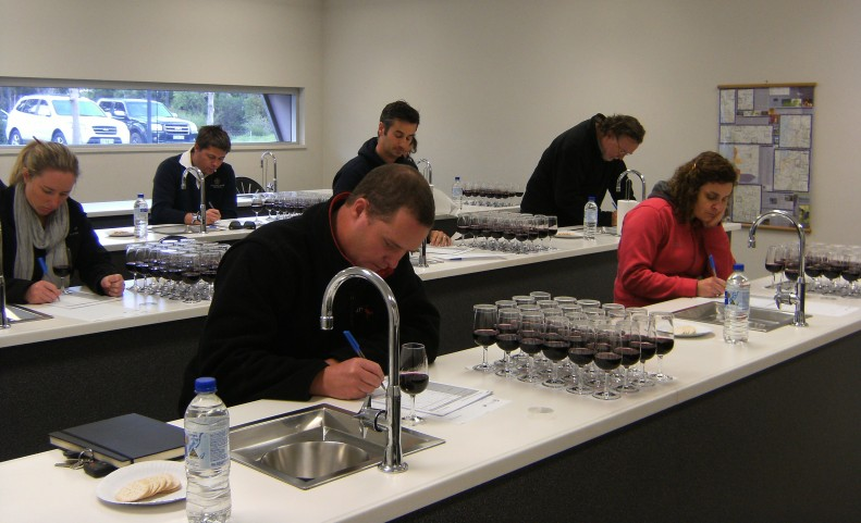 Smells like: A wine sensory panel with winemakers at the Margaret River Education Campus 'blind' tasted 24 wines from the Swan Valley and Mount Barker that consisted of Shiraz, Cabernet Sauvignon and Merlot.
