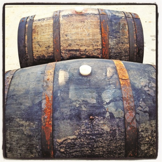 Mind-boggling: Ten Men Wines' barrels after sitting underwater for 14 months.