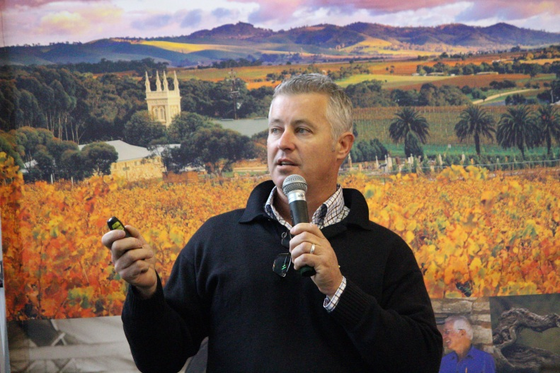 Hard graft: Hoare Consulting's Tony Hoare was the key presenter at BGWA's breakfast information session on grafting grapevines.