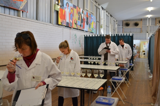 Judges hard at work during the 2014 NSW Small Winemakers Show