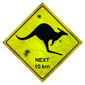 Kangaroo-Road-Sign