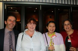 Peter and Karen Orr, QCWT; Trinh; and Robyn Henderson, Ballandean Estate