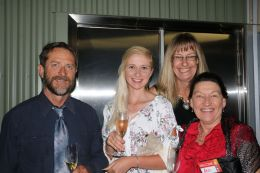 Michael, Shannon ,and Ann Bourke, Jester Hill Wines; and Jenny Futter, Symphony Hill Wines (at rear)